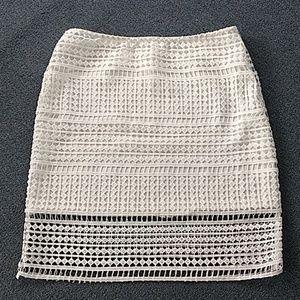 J.O.A. Los Angeles Crochet lace skirt